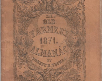 Old Farmer's Almanac, 1871, by Robert B. Thomas, fairly good shape
