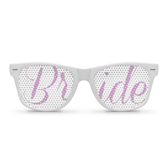 BRIDE Lilac Retro PartyWedding Sunglasses
