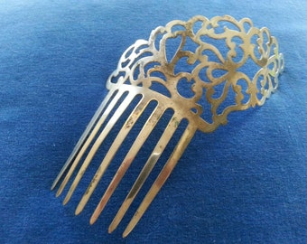 Antique Edwardian Silver Hair Pin Art Nouveau Hair Comb