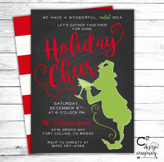 Grinch Cocktail Party Invitation