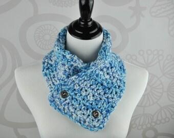 Neckwarmer - Blue - Crochet - Scarf