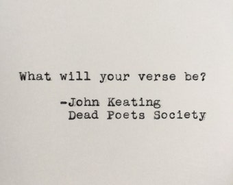 Dead poet society mr keating essay