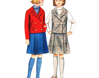 Butterick Sewing Pattern 3269 Girl's Suit Co-ordinates - estimated vintage 1960's  Size:  14  Breast 32  Used