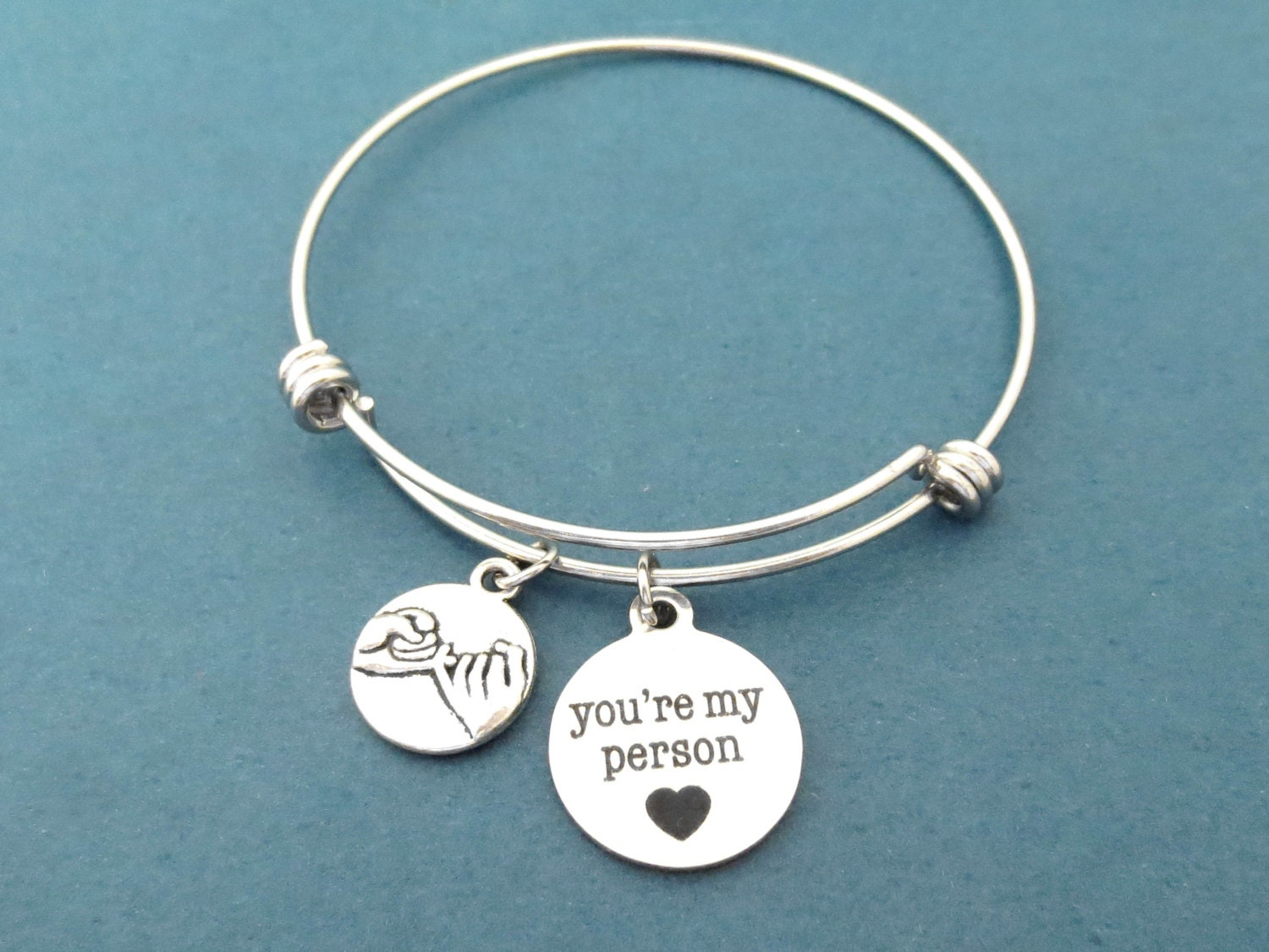 promise you re my person bangle bracelet