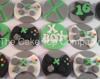 12 Xbox Cupcake Toppers