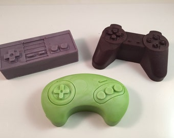 Video Game Controller Soap / ~5 oz total / Goat Milk Soap / Party Favor / Set of 3