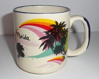 Vintage Souvenir Florida, Stoneware Style Mug
