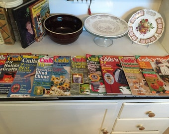 Crafts 'N Things Magazines, Lot of 10, 1999 & 2000
