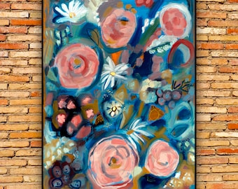 Bouquet - Giclee of 30x40 original oil painting
