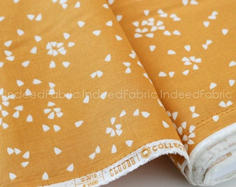 ORGANIC Petal Gold, Vignette, Cloud 9 Fabrics, Certified Organic Cotton Fabric, Quilting Weight