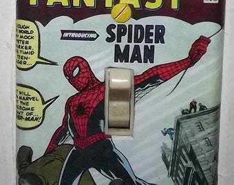 Spiderman Light Switch Cover Plate - Amazing Fantasy 15 Spider Man