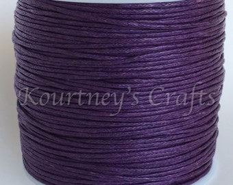 1mm Purple Cotton Waxed Cord Size 1mm Length 90 yards per roll