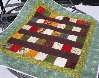 Lap Quilt, Quilted Throw, Quilted Blanket, Sofa Quilt, Patchwork Quilt, Tablecloth
