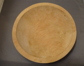 Vintage Munising Small Wooden Dough Bowl, Untouched Raw Wood Wonderful Grain Great Condition