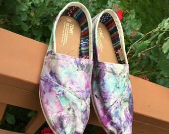 Marble Tie-Dye Custom Toms