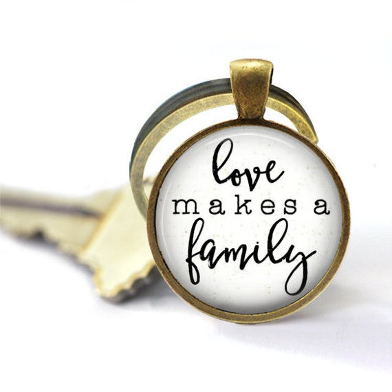 Adoption Keychain, Love Makes A Family, Christian Keychain, Foster Care, Christian Key Chains, Adoption Gifts, New Mother Gift, Wedding Gift
