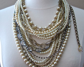 Boho Statement Necklace, Boho Jewelry, Coachella Jewelry, Gypsy, Beach Necklace, Boho Necklace, Lavender Field Jewelry, Jewelry Trends 2017