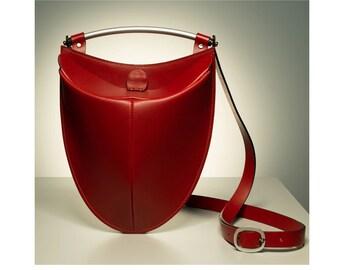 Pod Leather Messenger Bag
