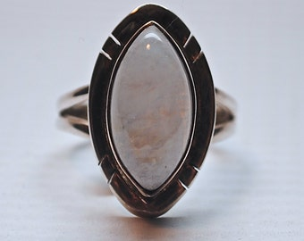 Sterling Silver Rainbow Moonstone Ring Sz 6 #2650