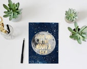 I love you to the moon and back quote print, PRINTABLE, gender neutral nursery wall art decor, newborn boy baby shower gift