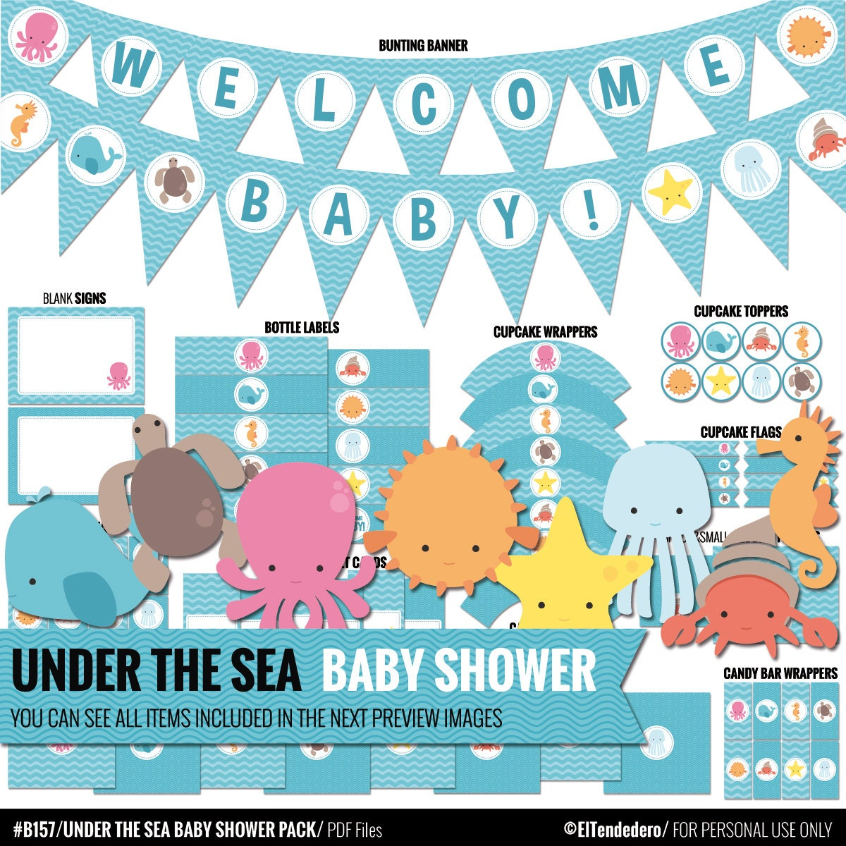 under the sea baby shower package to decor your by eltendedero