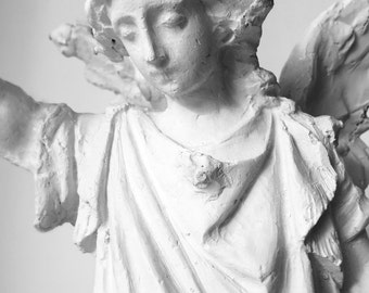 Guardian Angel with Stretched Arm, Plaster Cast for Marble Carving, Italy