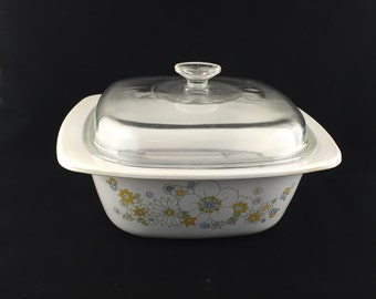 Corning Ware Floral Bouquet Large Dutch Oven, P-34-B 4 Quart With Rack And Lid