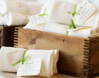 Organic cotton washcloth | Bamboo | Handmade | Pack of 3
