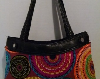 Colorful Aztec Circles Purse Skirt ONLY for Old Style Thirty-One Skirt Purse
