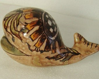 cute midcentury Erhart Schiavon pottery fish bowl ashtray
