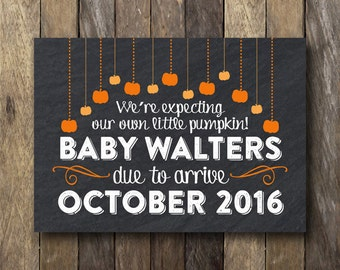 Fall Pregnancy Announcement - Printable Pregnancy Reveal - Pumpkin Pregnancy Announcement - Fall Pregnancy Reveal