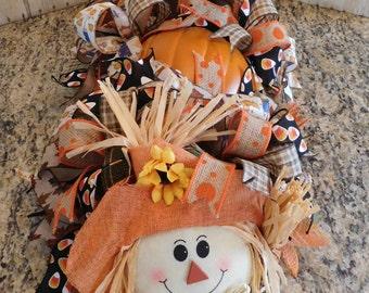 Fall Scarecrow Centerpiece, Pumpkin Centerpiece, Fall Table Decor, Autumn Harvest Decor, Scarecrow Decor, Table Centerpiece, Pumpkin Butt