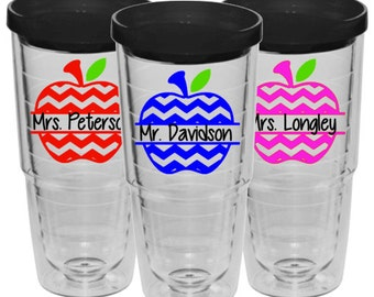 Personalized teacher tervis style, 24oz, travel mug,
