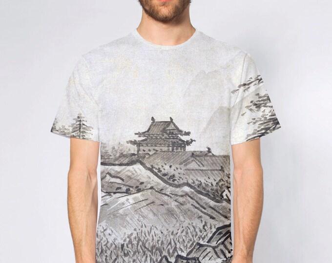 KillerBeeMoto: Black & White Japanese Ink Wash Painting By Sesshu Toyo On T-Shirt