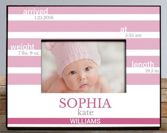 Personalized Baby Picture Frame, New Baby Picture Frame,Picture Frame