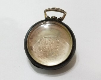 Antique Sterling Silver Watch Case, Pocket Watch, Locket, Pendant, Elgin, Star, Remembrance,  Repair, Repurpose, Steampunk