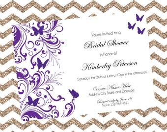 Butterfly Bridal Shower Invites