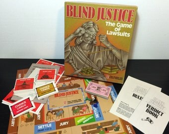 Blind Justice by Avalon Hill, 1989 - Vintage 1980s Realistic Lawsuits Game - Complete, Like New