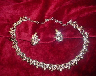 Coro Silver Necklace and Earrings