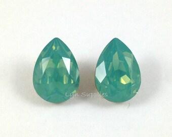 14x10mm PACIFIC OPAL 4320 Swarovski Crystal Teardrops 2pcs or 10pcs