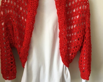 Red Sleeve Shrug