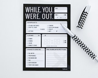 While you were out list pad