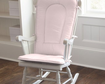Solid Pink Rocking Chair Pad by Carousel Designs