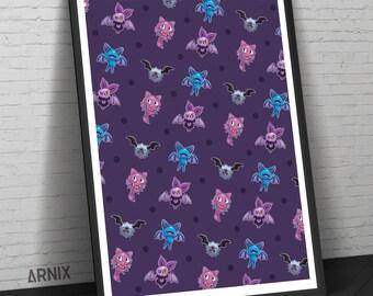Pokemon - Bat Print
