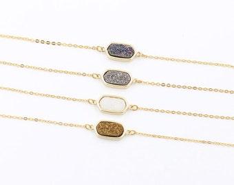 SALE Druzy Necklaces -- Druzy Choker Necklace -- drusy jewelry supplies wholesale geode bridesmaid necklaces DJ