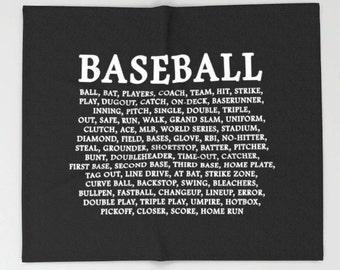 Baseball Quote, Baseball Blanket, Baseball Decor, Boys Room Baseball, Baseball Theme, Baseball Fan Gift, Sports Room Decor, Baseball, Sports
