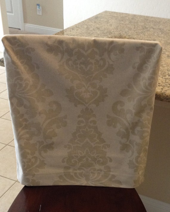 Natural Linen Fitted Chair Back Cover Premier Prints Berlin