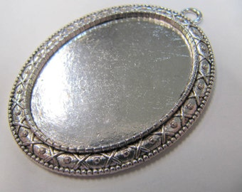 Cabochon Blanks, 30X 40 MM, Oval, Base Metal, Pendant Blanks, Great For Lapidary People, #4030A