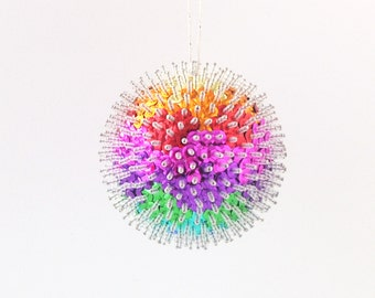 Sequin Rainbow Christmas Ornament