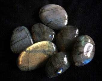 Labradorite Tumbled Stone - Increases Intuition, Psychic Development, Esoteric Wisdom, Chakra, Reiki Healing, Free Shipping